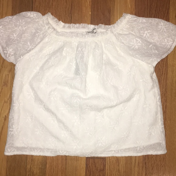 0307a0f1d142c7 abercrombie kids Shirts & Tops | White Lace Off The Shoulder Shirt ...